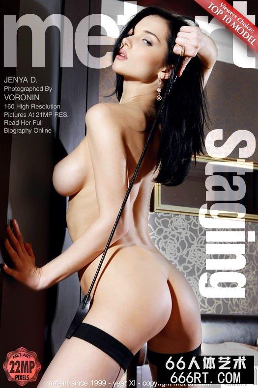 美得让人心颤的超模Jenya黑丝人体-1