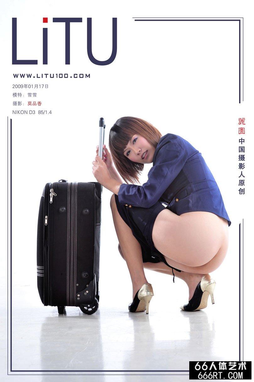 模特雪雪09年1月17日室拍空姐主题