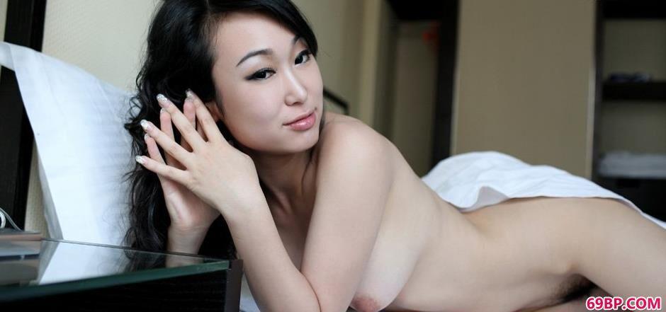 白色床单超模苏蕾2