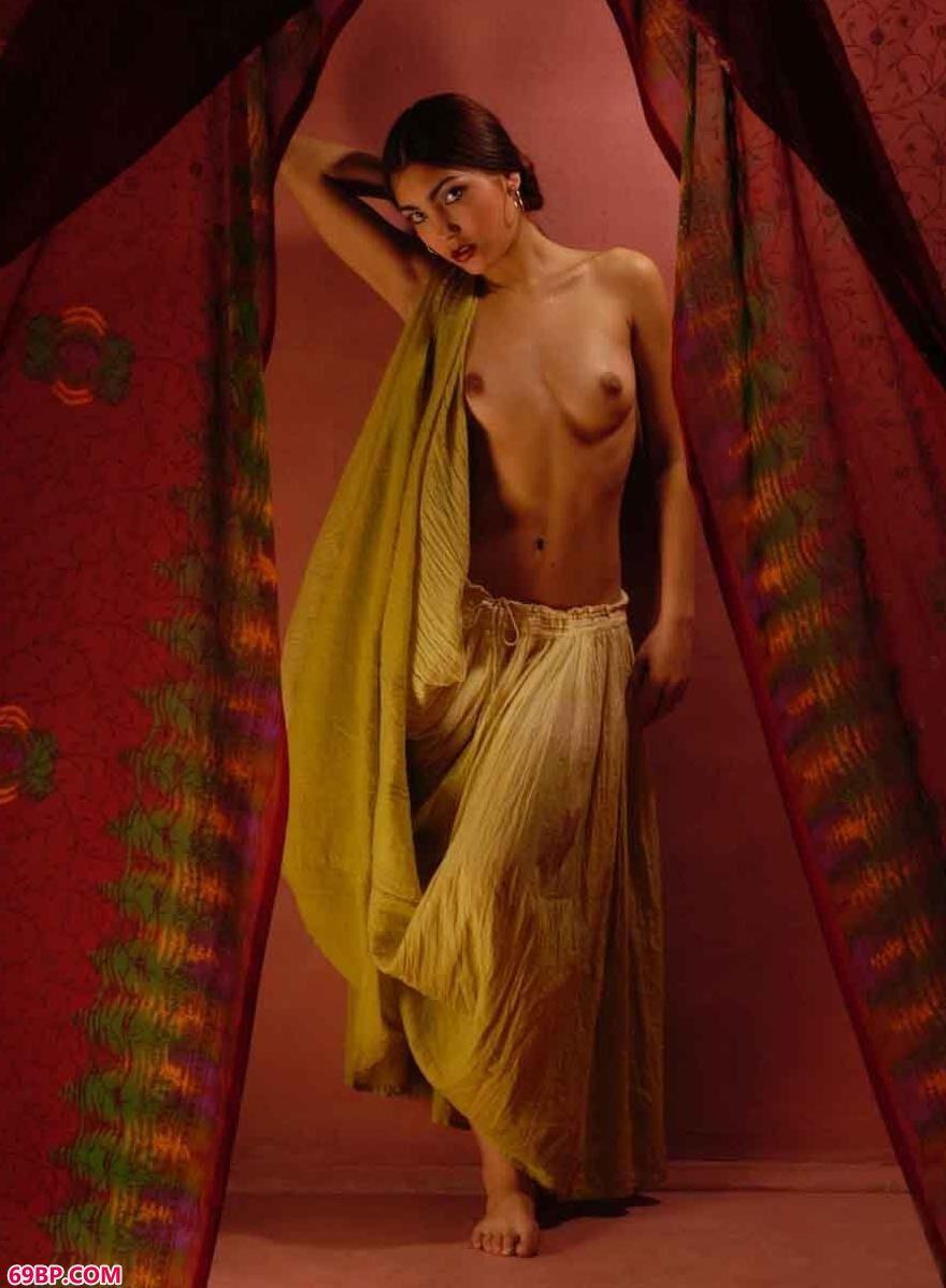 西班牙裸模Flamenco室拍民族舞蹈人体
