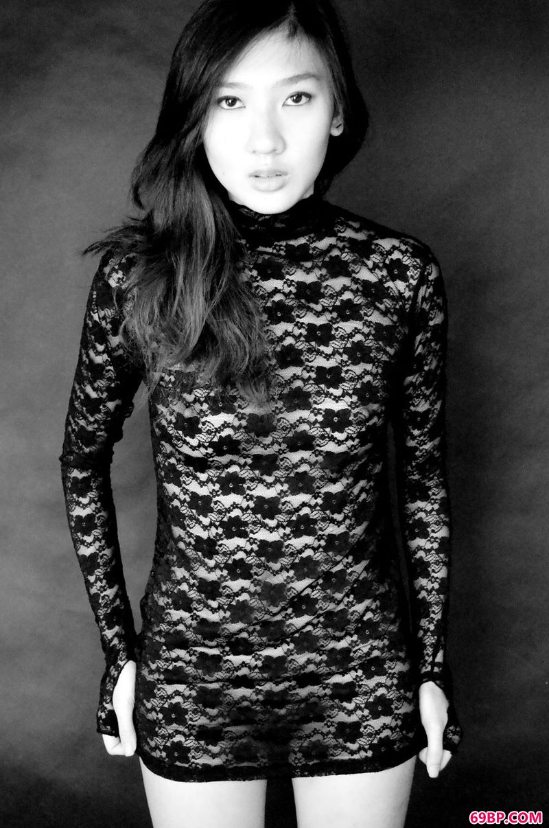 黑白光影人体超模Ivy_美女人体摄影