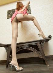 美腿模特wuming旗袍肉丝人体